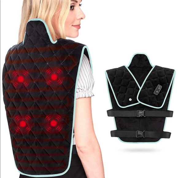 Heating Weighted Massage Pad for Back Pain Relief